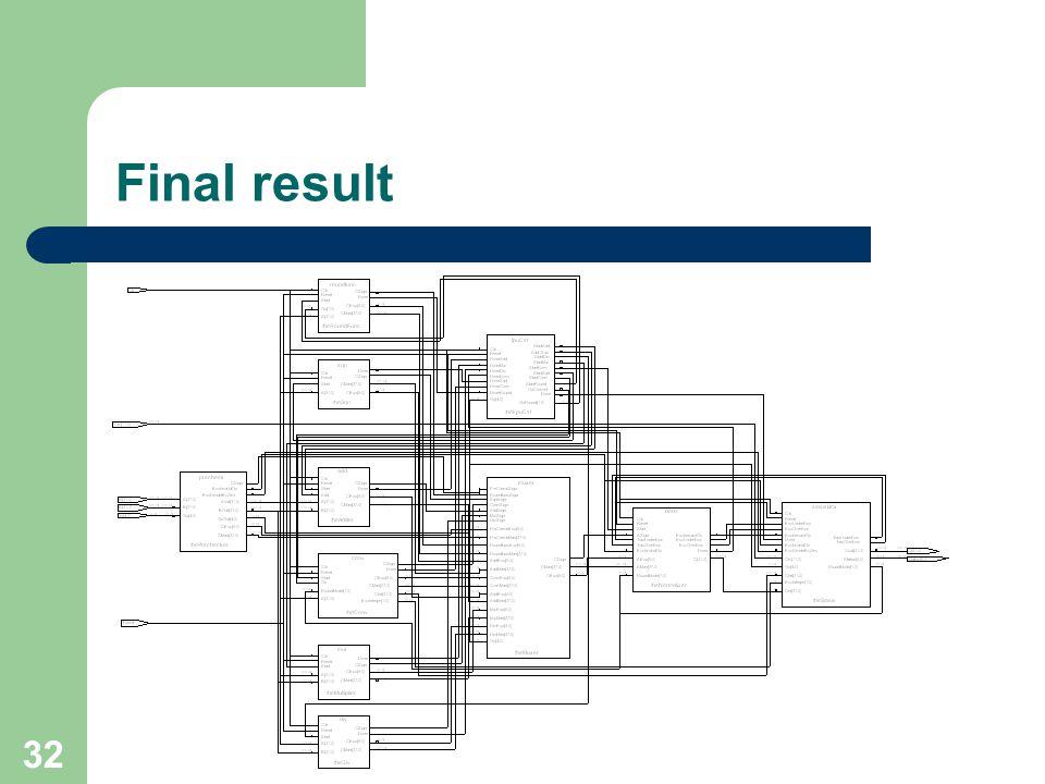 32 Final result