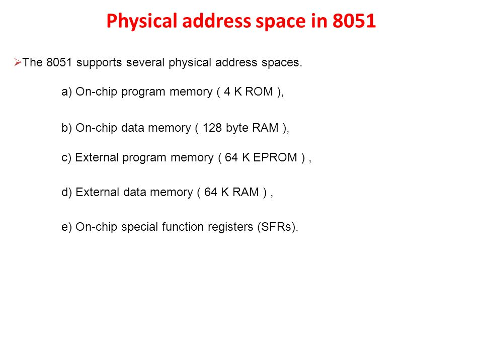 Addressing Mode of 8051  8051 micro controller supports the following addressing modes.