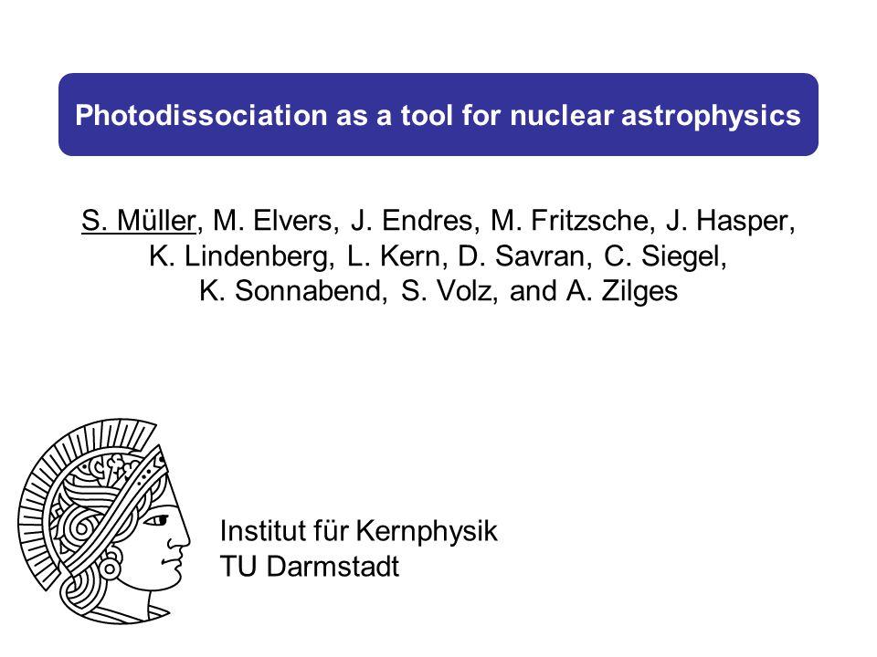 Photodissociation as a tool for nuclear astrophysics S.