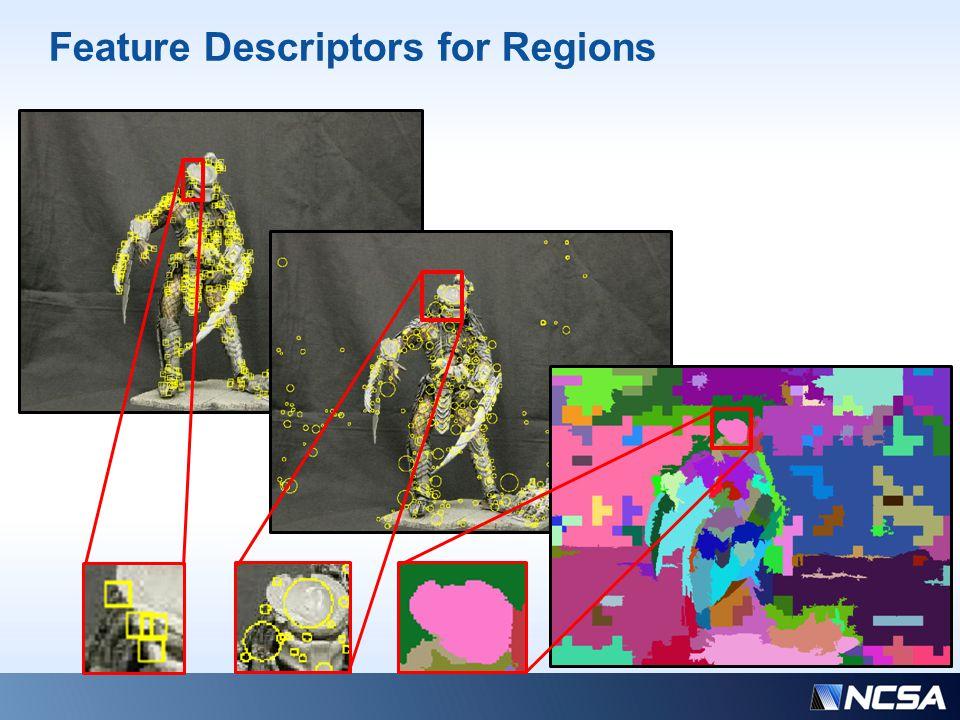 Feature Descriptors for Regions