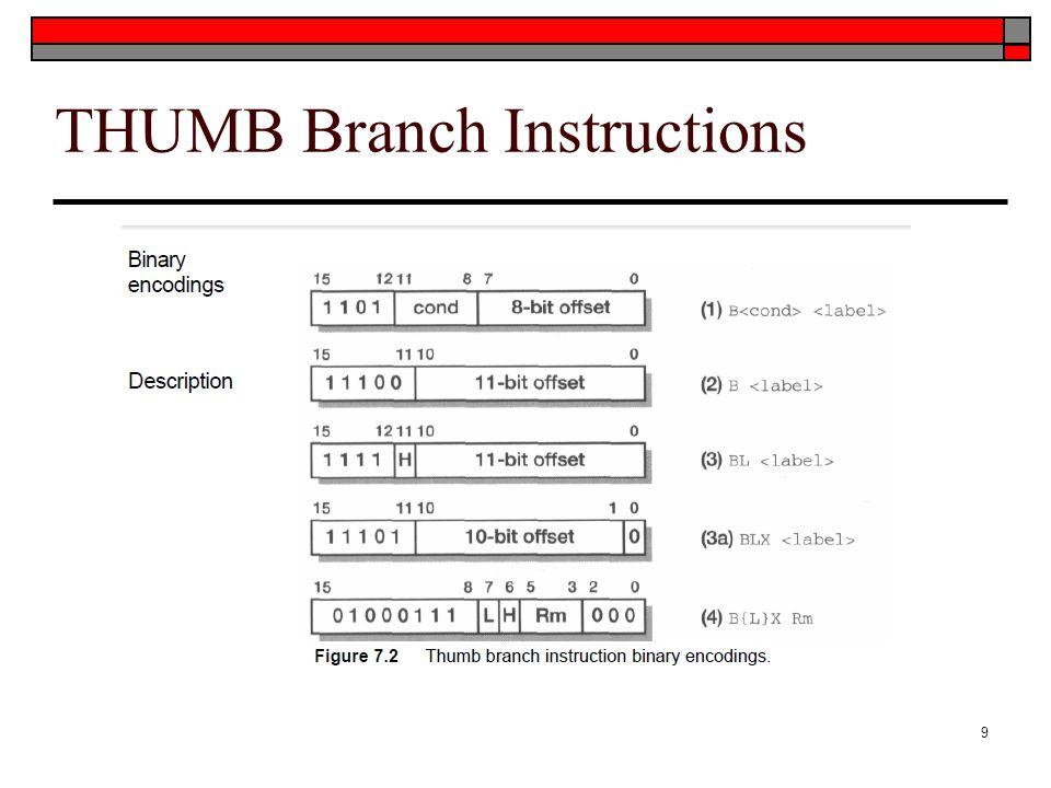 THUMB Branch Instructions 9
