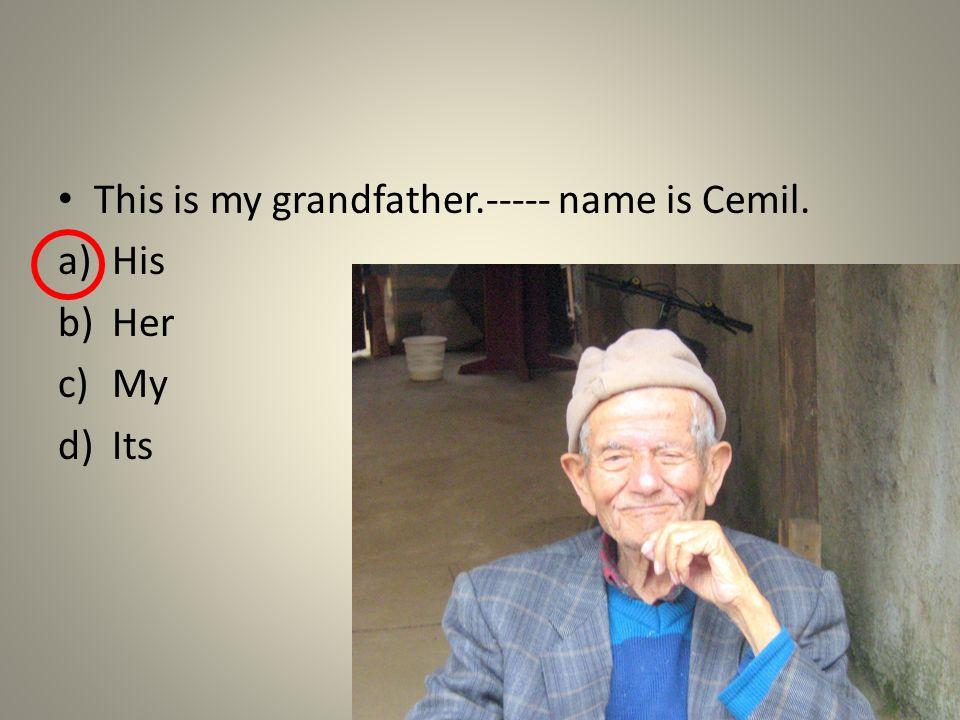 This is my uncle.----- name is Tom. a)His b)Her c)My d)Its