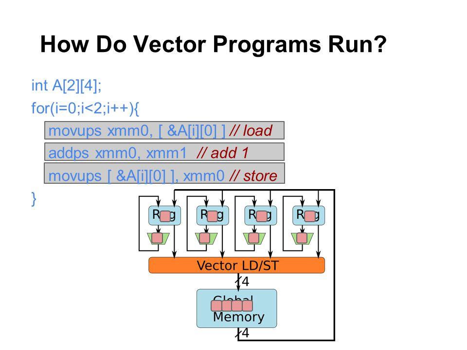 How Do Vector Programs Run.