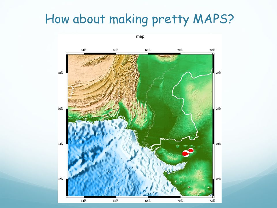 How about making pretty MAPS?