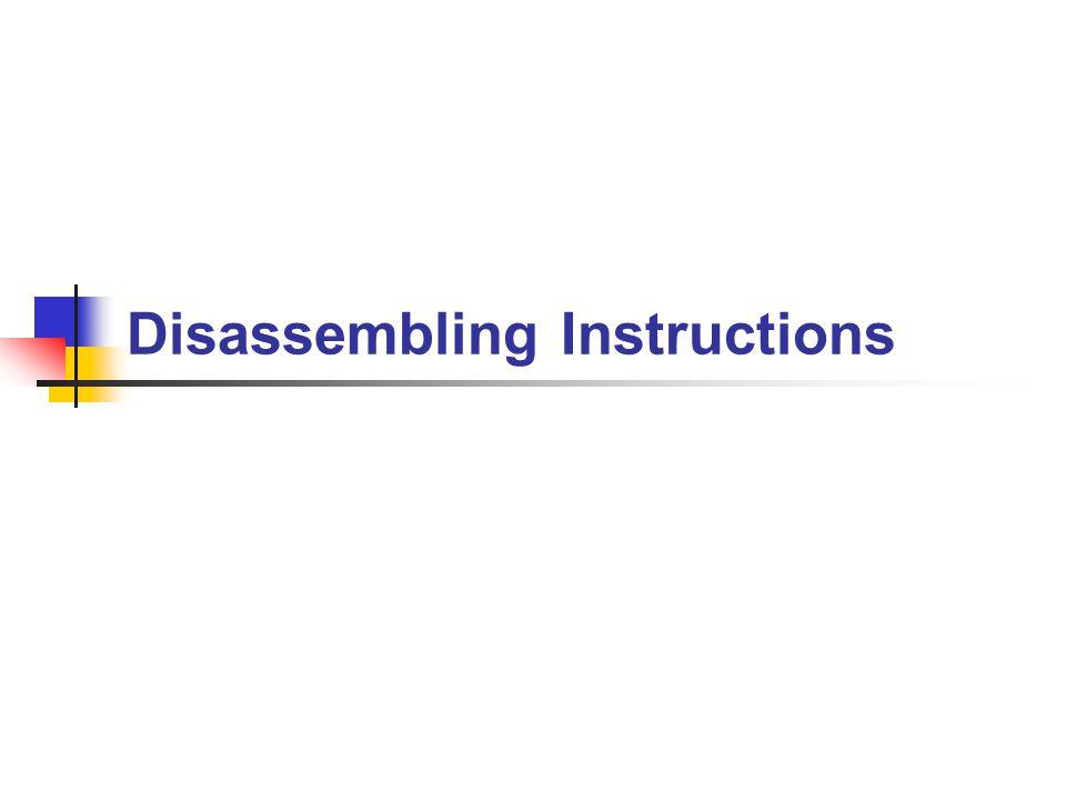 Disassembling Instructions