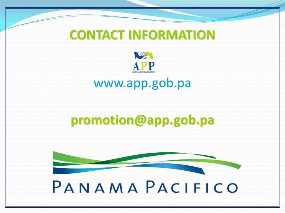 www.app.gob.papromotion@app.gob.pa CONTACT INFORMATION