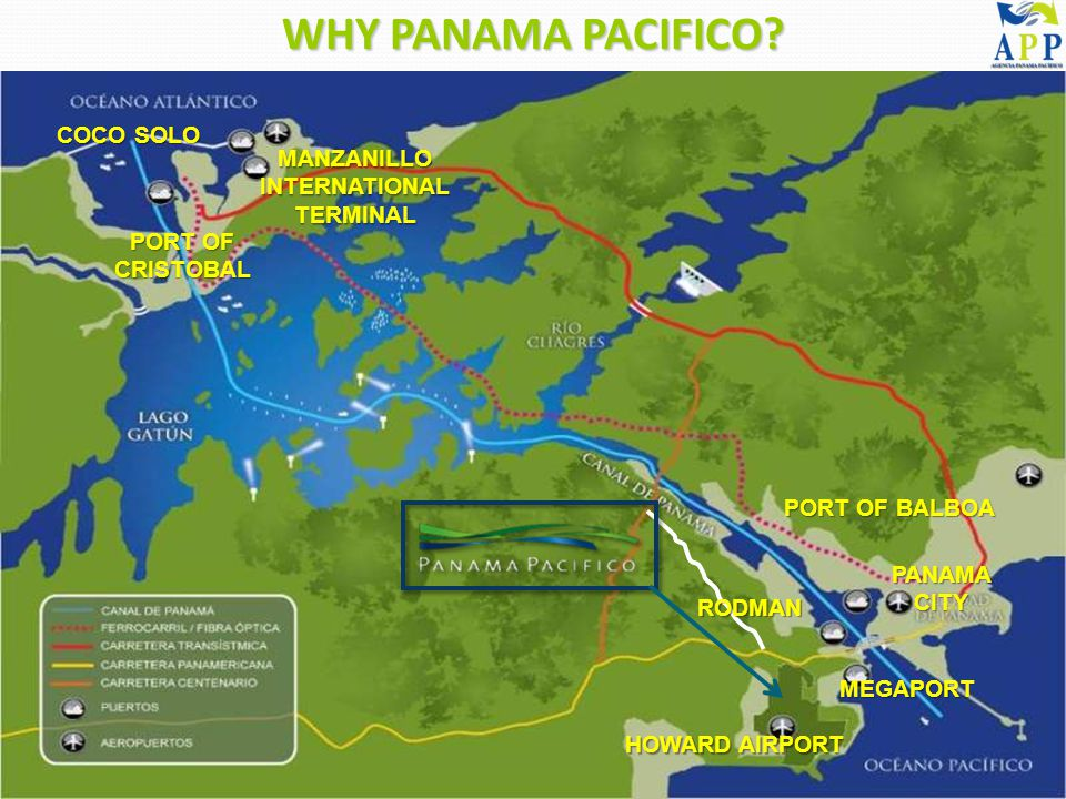 PORT OF CRISTOBAL MANZANILLO INTERNATIONAL TERMINAL COCO SOLO PORT OF BALBOA RODMAN MEGAPORT HOWARD AIRPORT PANAMA CITY WHY PANAMA PACIFICO