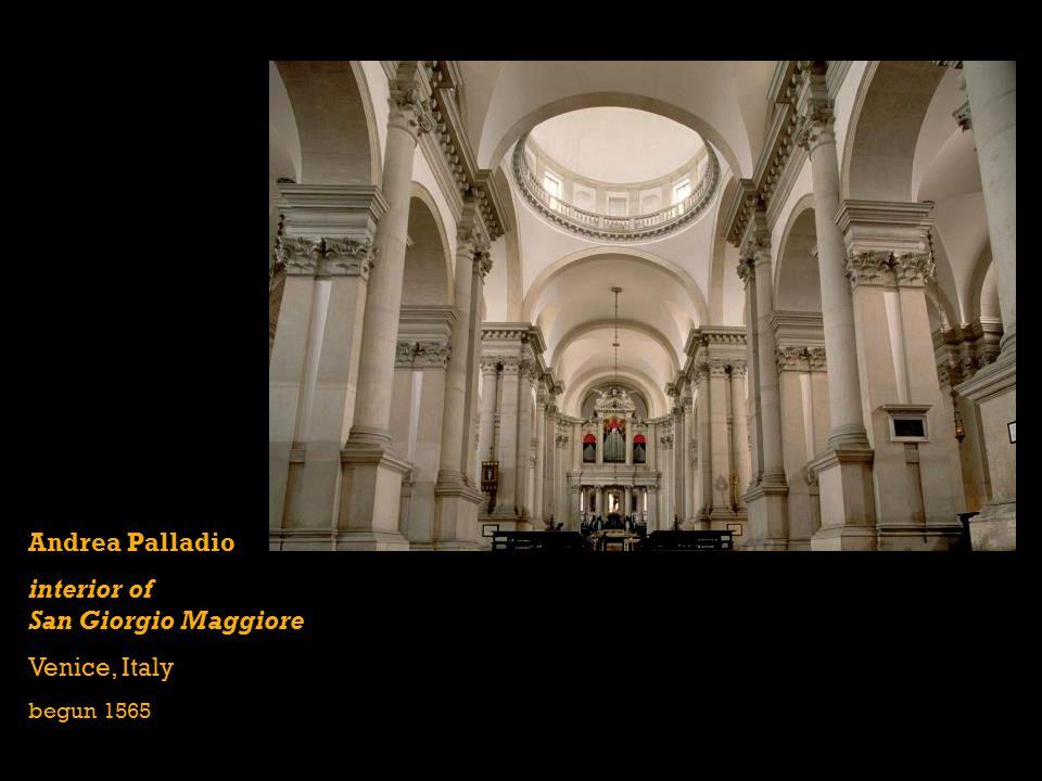 Andrea Palladio interior of San Giorgio Maggiore Venice, Italy begun 1565