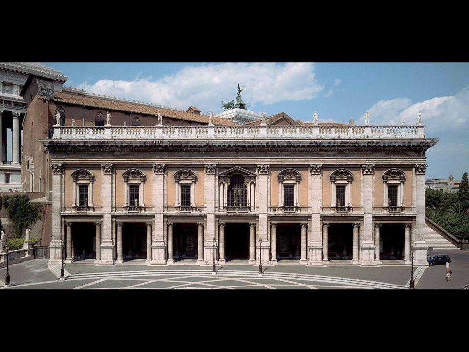 Michelangelo. Palazzo dei Conservatori, Campidoglio, Rome Designed ca. 1545