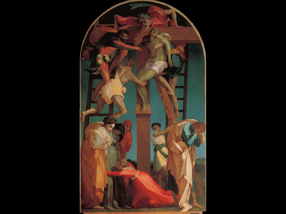 Rosso Fiorentino. The Descent from the Cross. Commissioned for the Chapel of the Compagnia della Croce di Giorno in the church of San Francisco in Vol