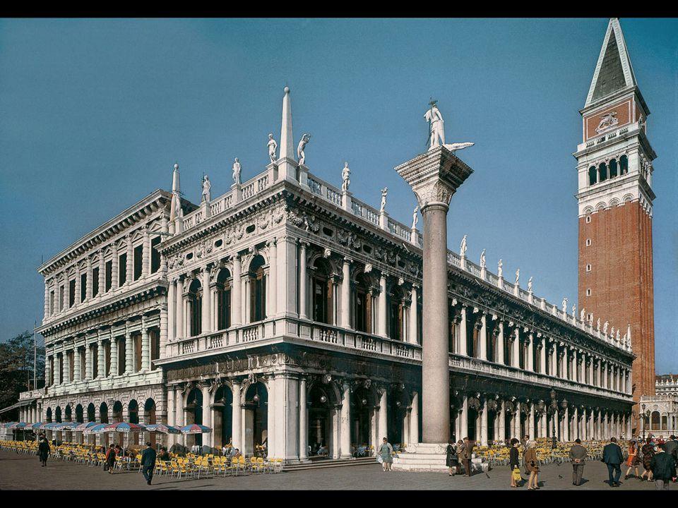 Jacopo Sansovino. Mint (left) and Library of St. Mark's, Venice Begun ca. 1535–37
