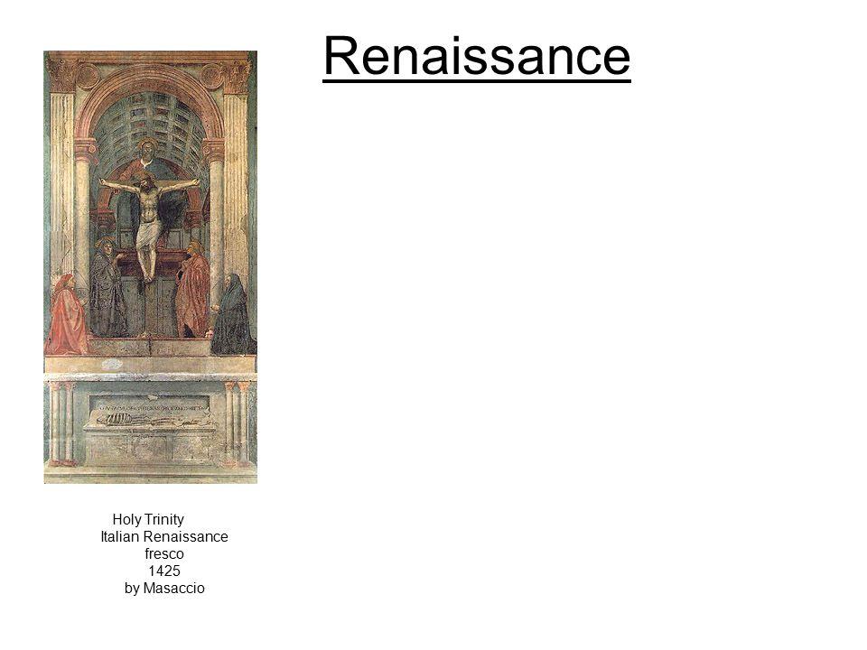 Renaissance Holy Trinity Italian Renaissance fresco 1425 by Masaccio