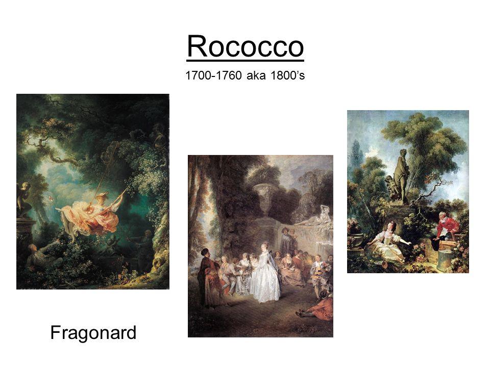 Rococco Fragonard 1700-1760 aka 1800's