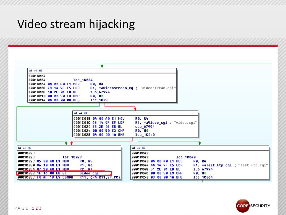 PAGE Video stream hijacking 123