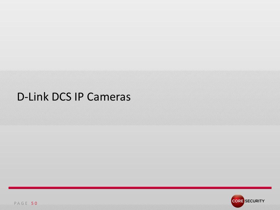 PAGE D-Link DCS IP Cameras 50
