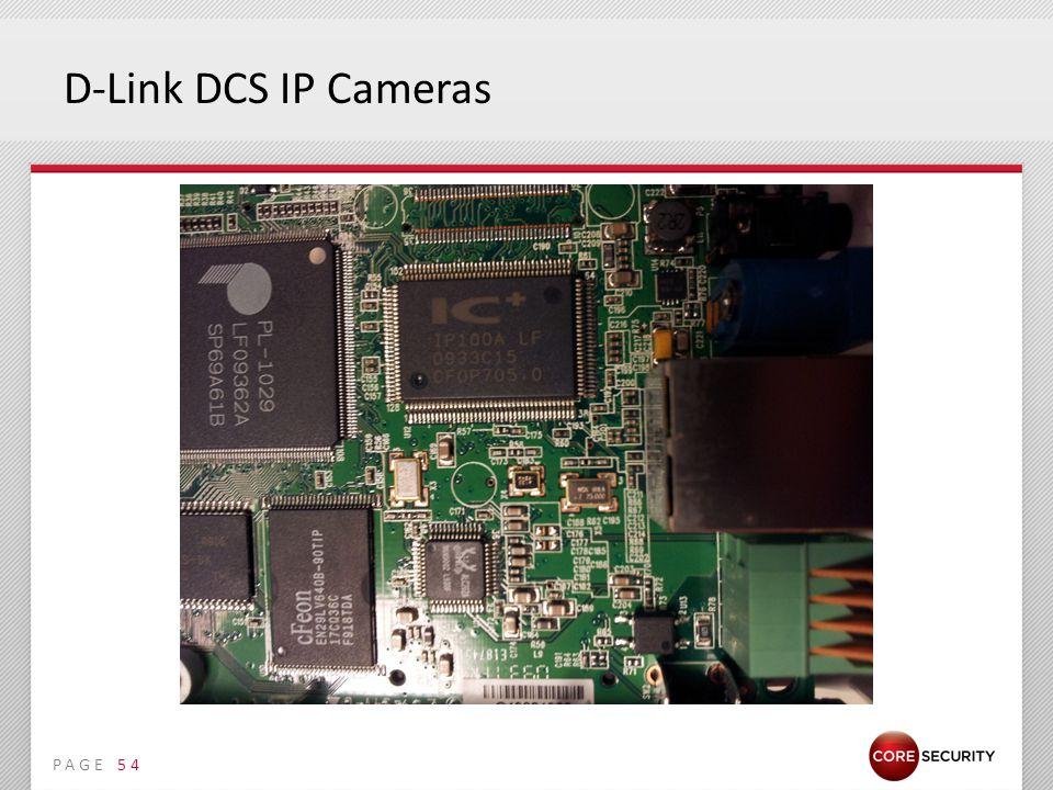 PAGE D-Link DCS IP Cameras 54