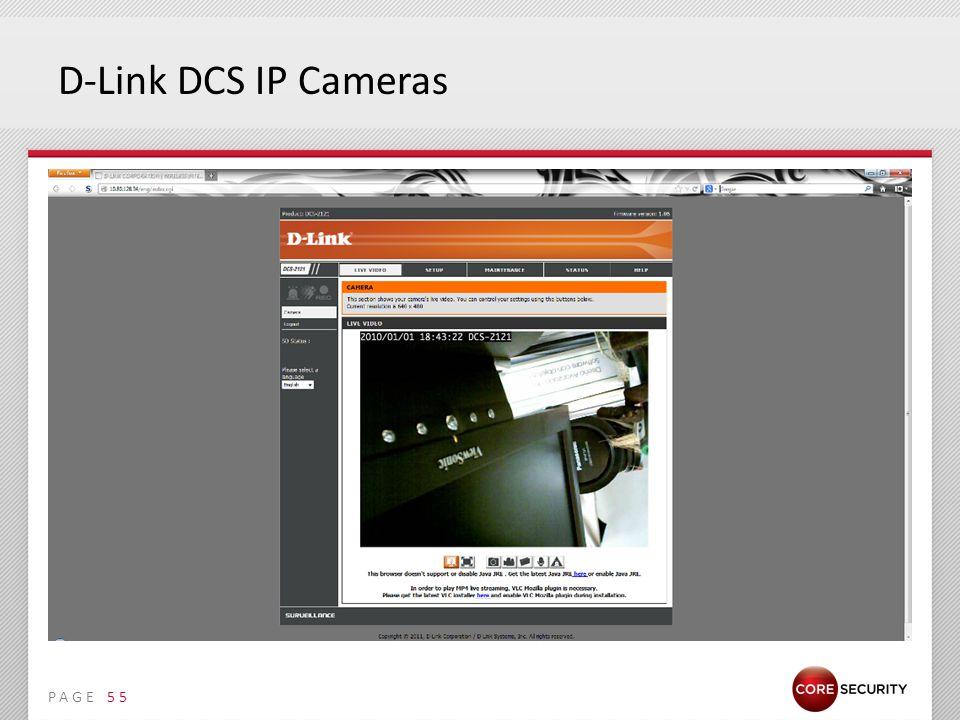 PAGE D-Link DCS IP Cameras 55