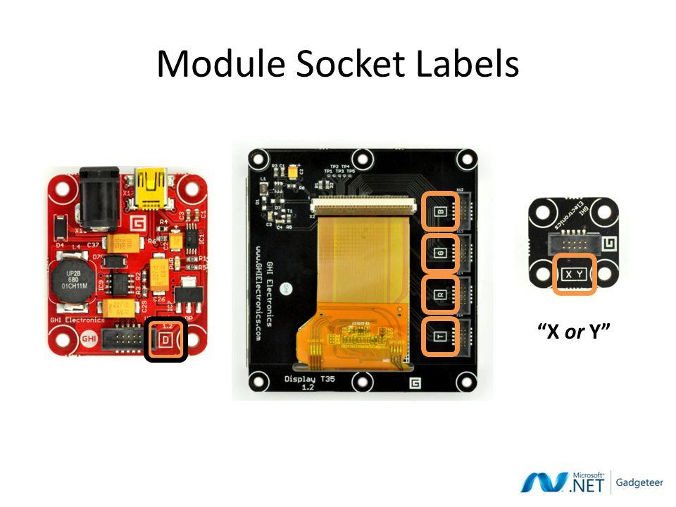 Module Socket Labels X or Y
