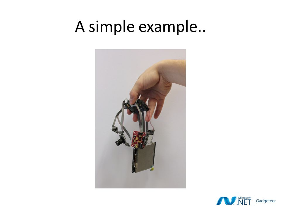A simple example..