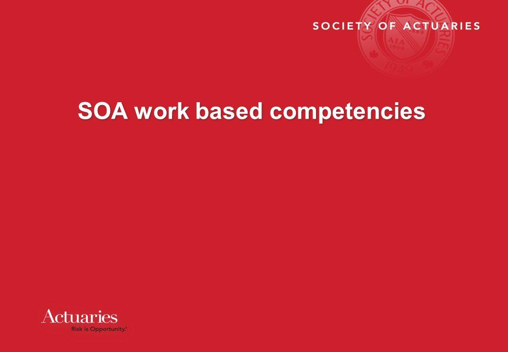 SOA work based competencies