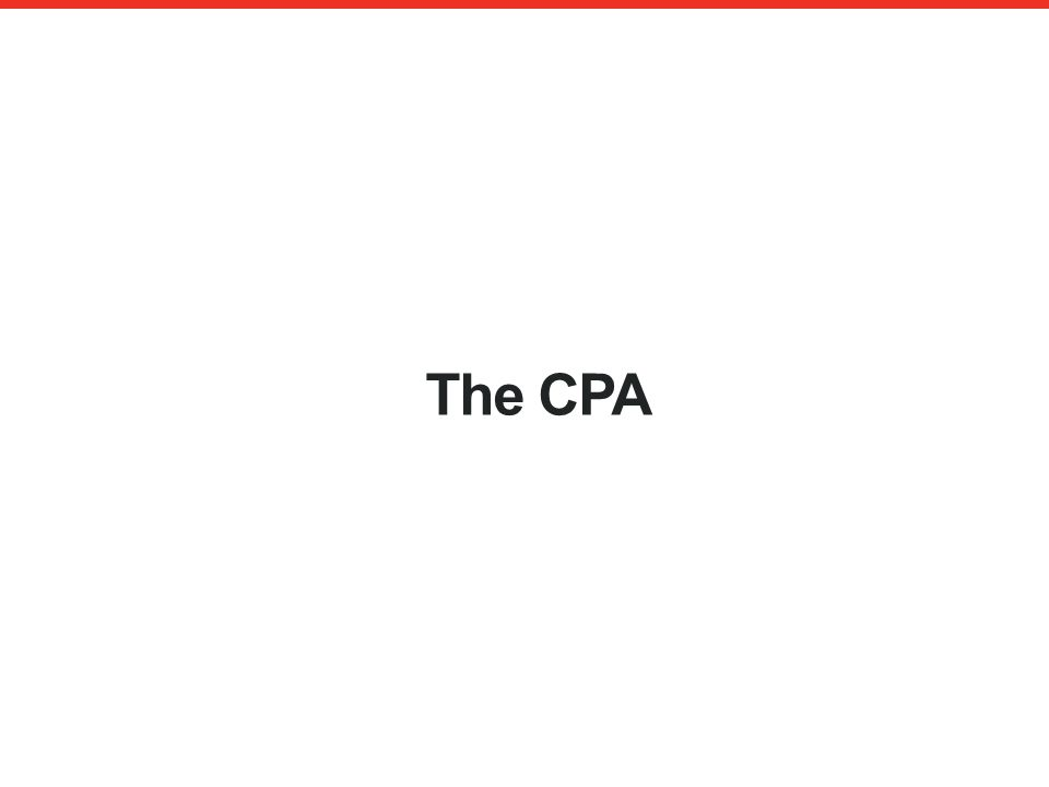 The CPA An authorised financial services provider – FSP 43441