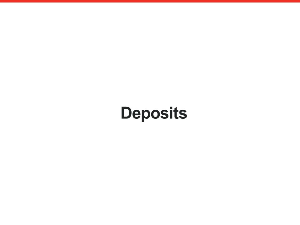 Deposits An authorised financial services provider – FSP 43441