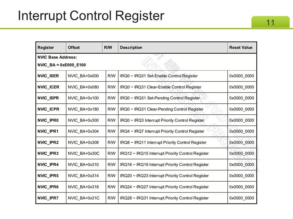 Interrupt Control Register 11