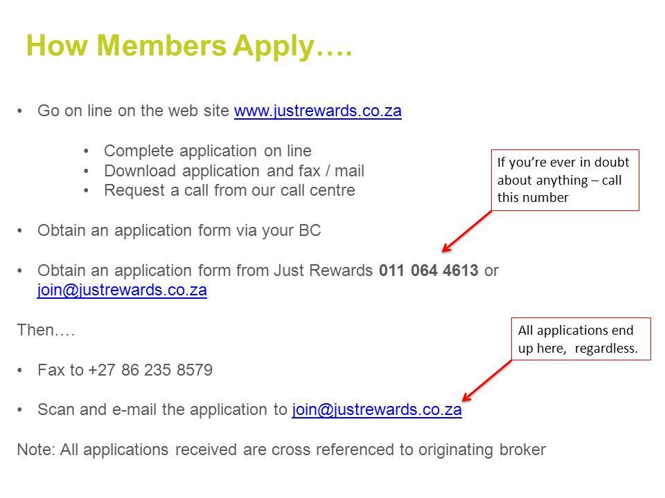 How Members Apply….