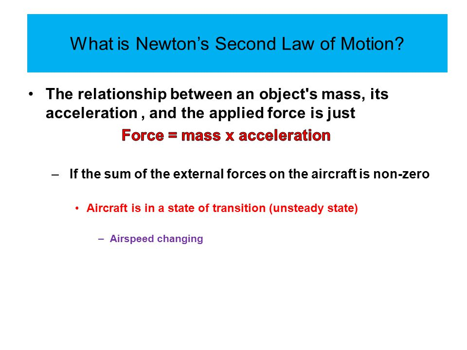 What is Newton's Second Law of Motion?