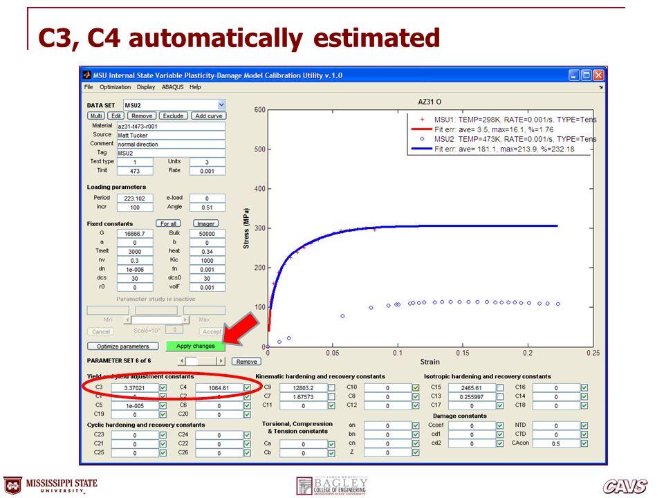 C3, C4 automatically estimated