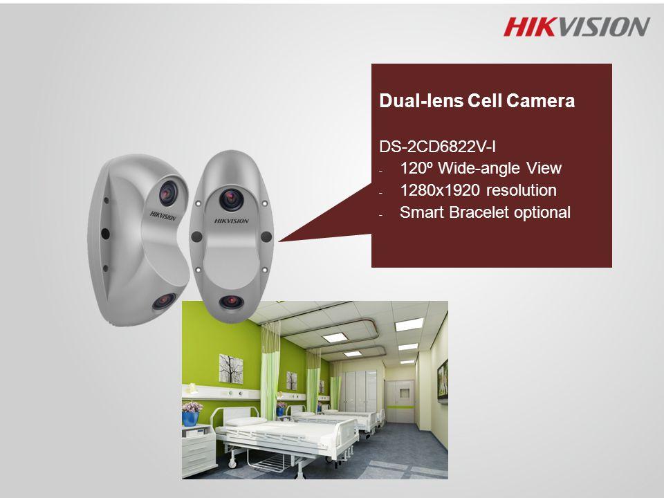 Dual-lens Cell Camera DS-2CD6822V-I - 120º Wide-angle View - 1280x1920 resolution - Smart Bracelet optional