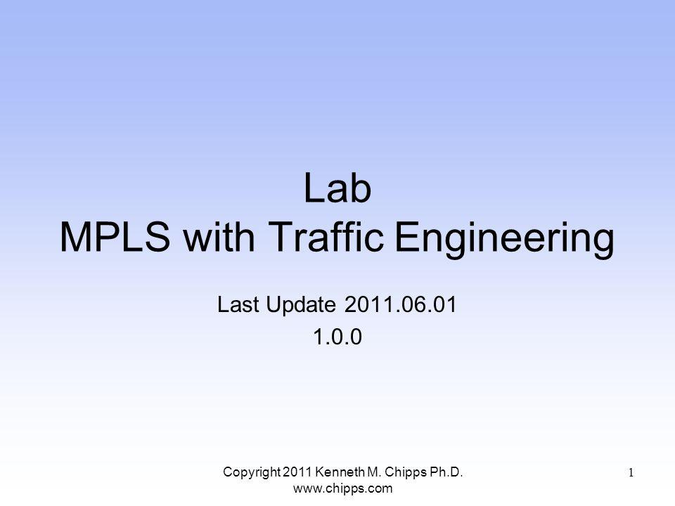 Lab Network Copyright 2011 Kenneth M. Chipps Ph.D. www.chipps.com 32