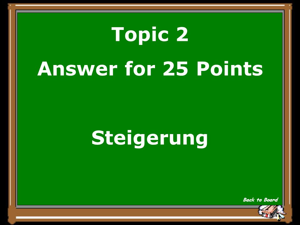 Topic 2 Question for 25 Points ansengen- brennen Show Answer