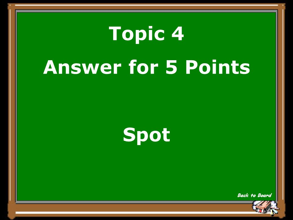 Topic 4 Question for 5 Points Was nannte der Schildbuerger sein Zebra Show Answer