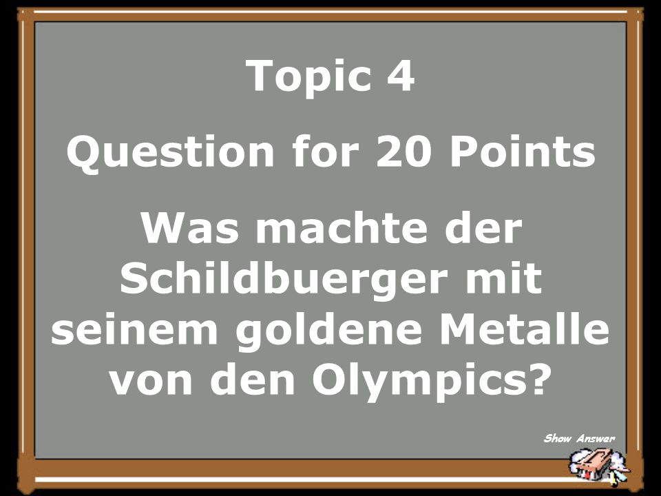 Topic 4 Answer for 15 Points Fuer,,Toes Go In First Back to Board