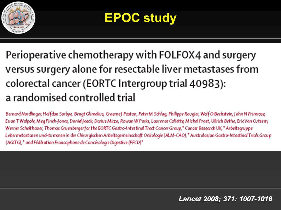 Lancet 2008; 371: 1007-1016 EPOC study