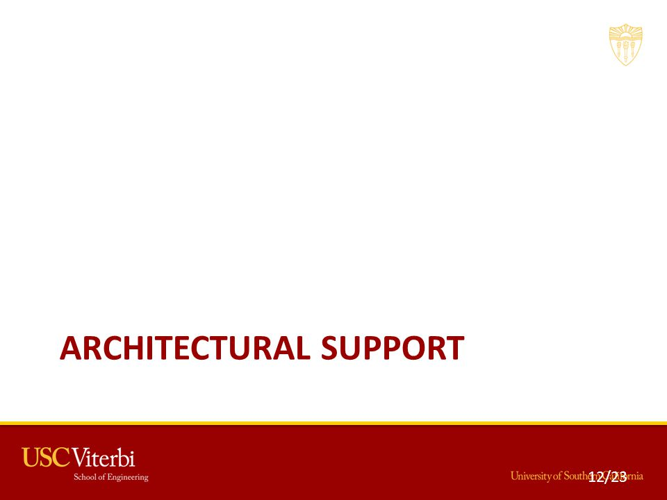 ARCHITECTURAL SUPPORT 12/23