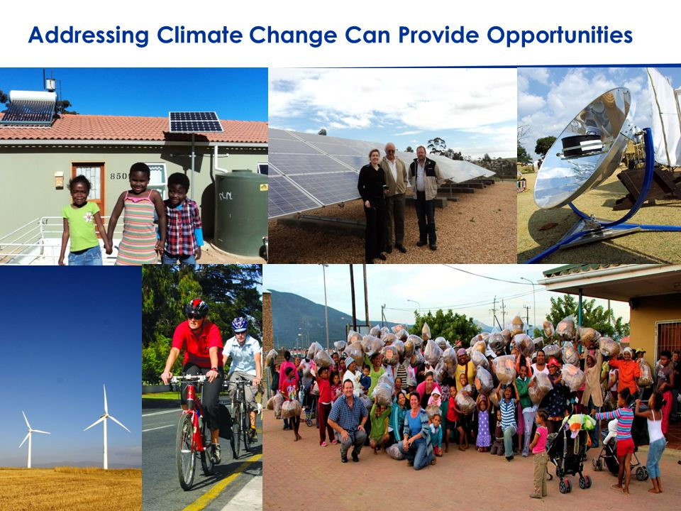 © Western Cape Government 2012 | 4 Go to Insert > Header & Footer > Enter presentation name into footer field Addressing Climate Change Can Provide Opportunities