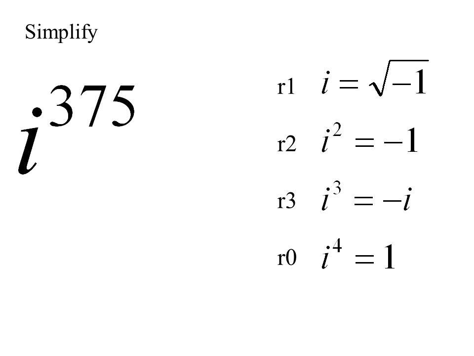 Simplify r1 r2 r3 r0