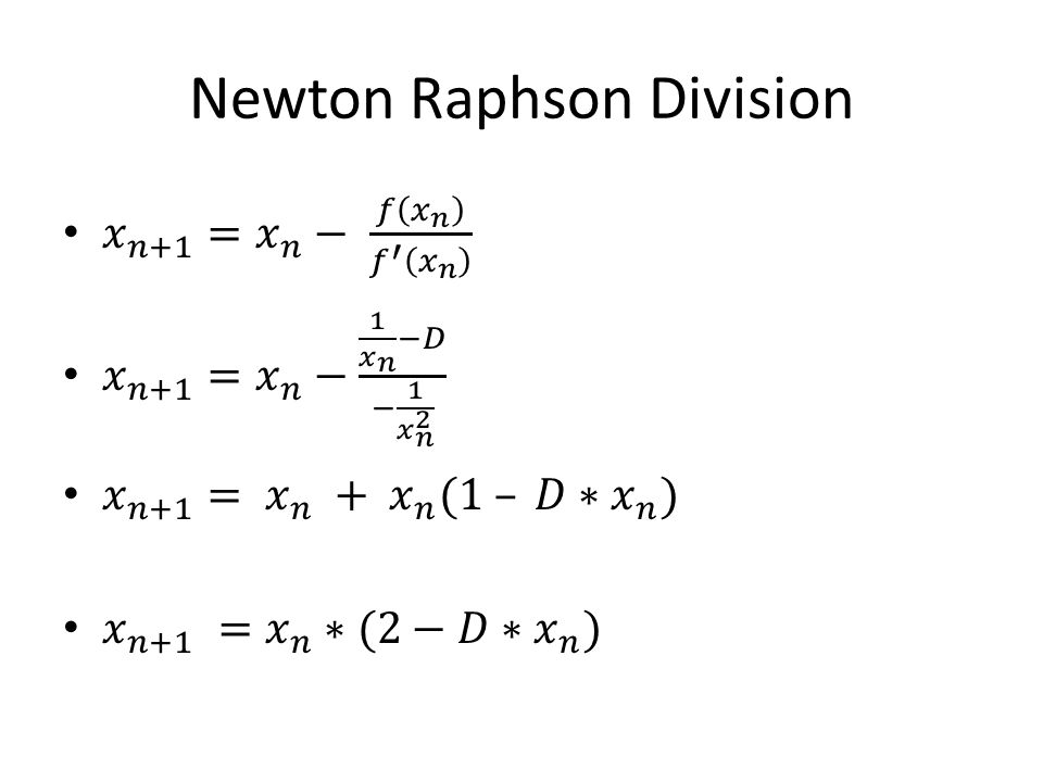 Newton Raphson Division