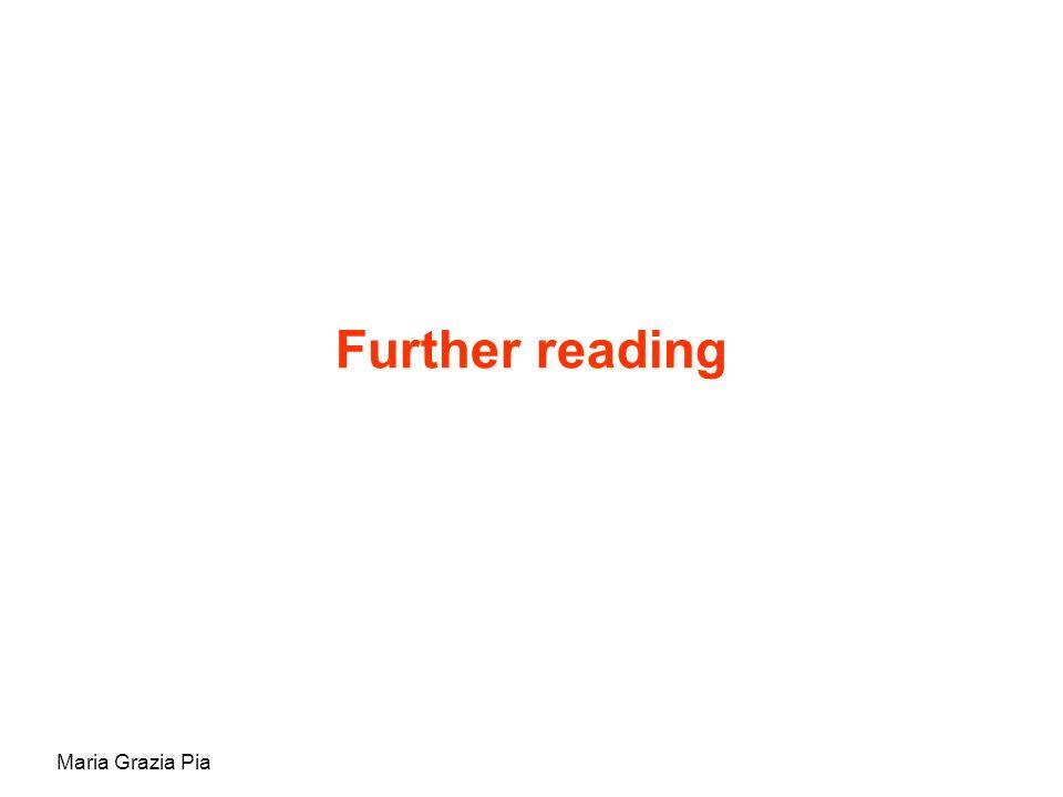 Maria Grazia Pia Further reading