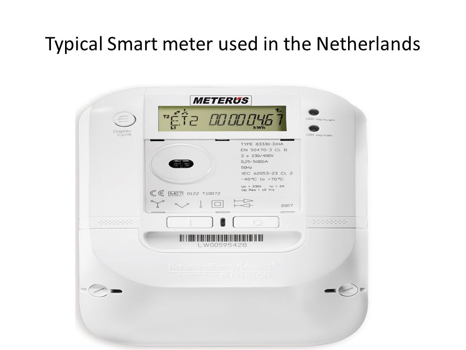Typical Smart meter used in the Netherlands