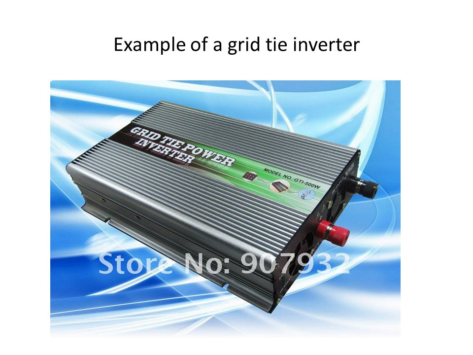 Example of a grid tie inverter