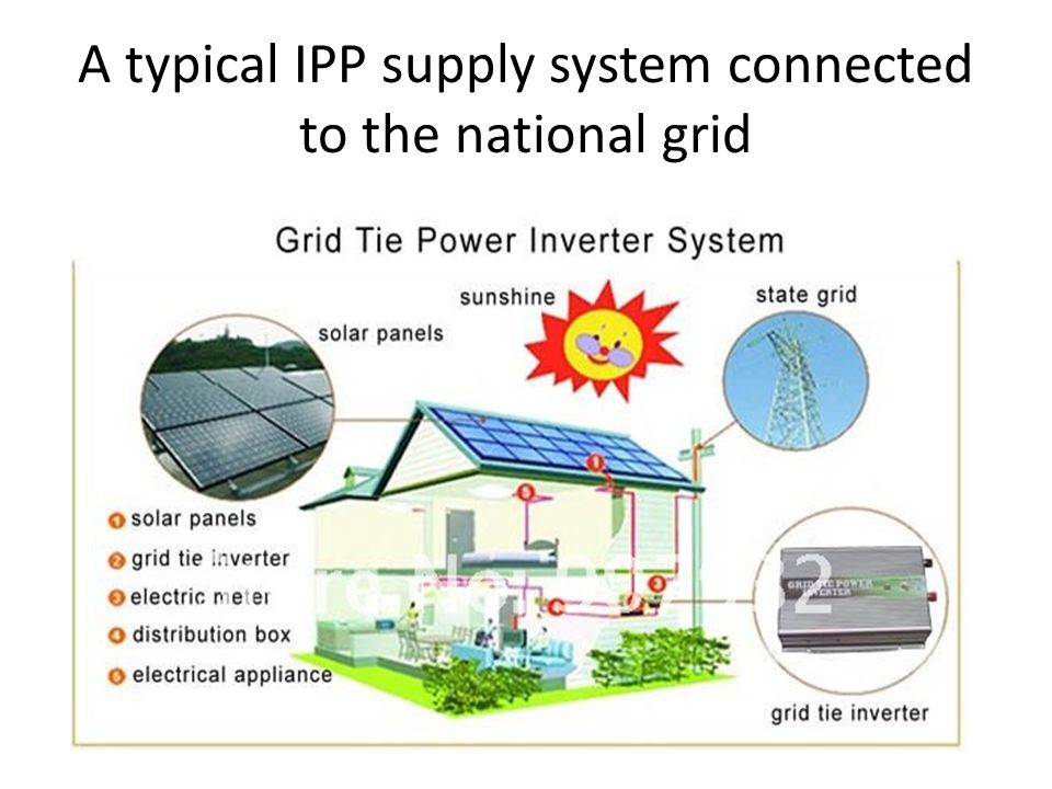 A typical IPP supply system connected to the national grid