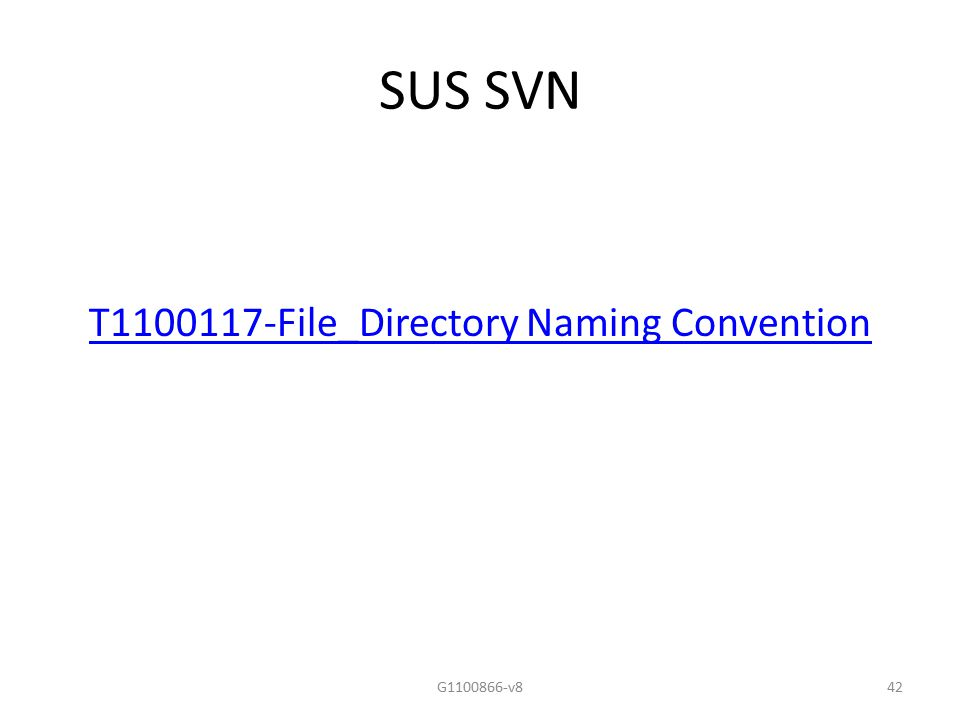 SUS SVN T1100117-File_Directory Naming Convention G1100866-v842