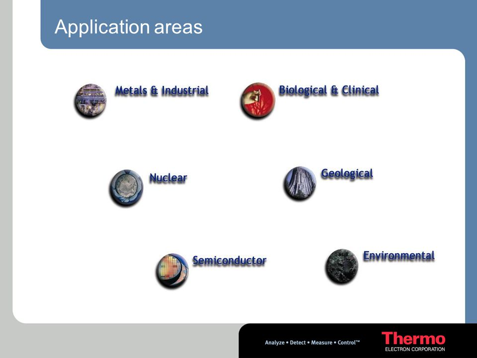 Metals / Industrial Analysis of major, minor and trace elements Purity of fine metals Solution Analysis via nebulisation Solids Analysis via Laser Ablation Reagents required: 40% v/v/ Primar Nitric acid and deionised water No sample preparation required.