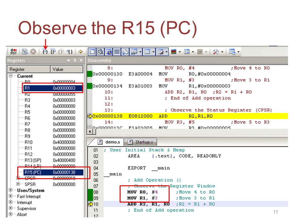 Observe the R15 (PC) 11