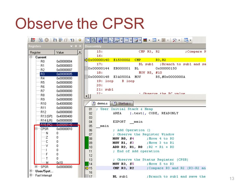 Observe the CPSR 13