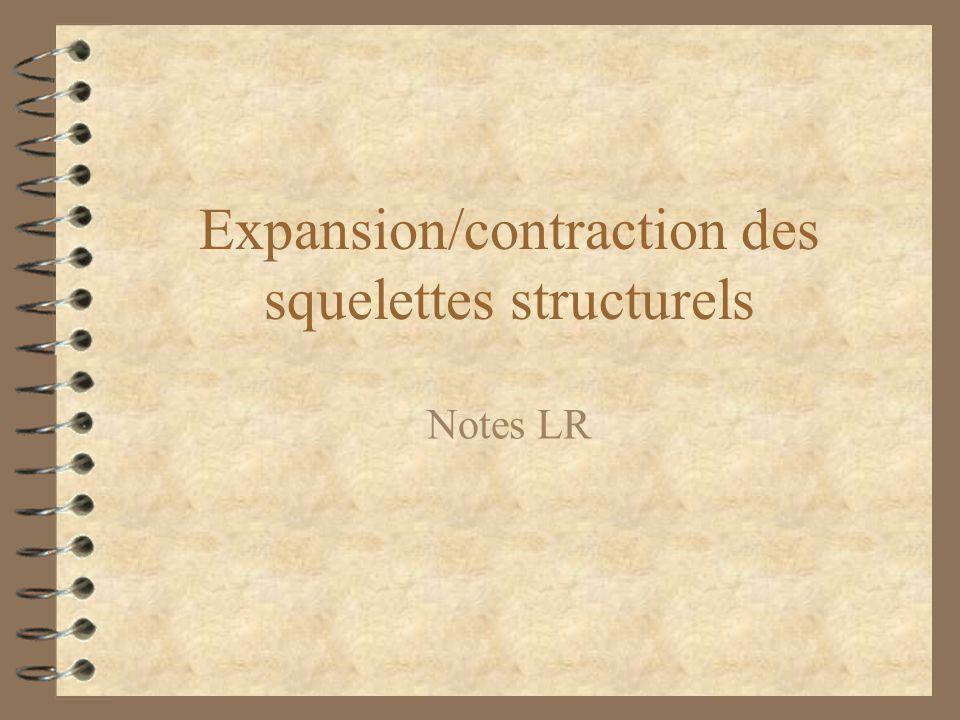 Expansion/contraction des squelettes structurels Notes LR