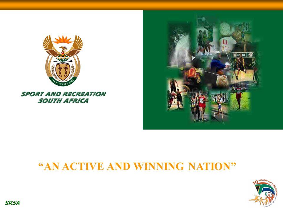 "SRSA ""AN ACTIVE AND WINNING NATION"""